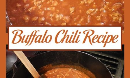 Buffalo Chili Recipe