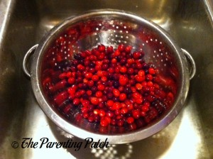 Rinsing the Cranberries
