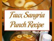 Faux Sangria Punch Recipe