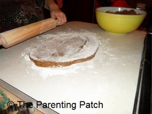 Rolling the Gingerbread Dough