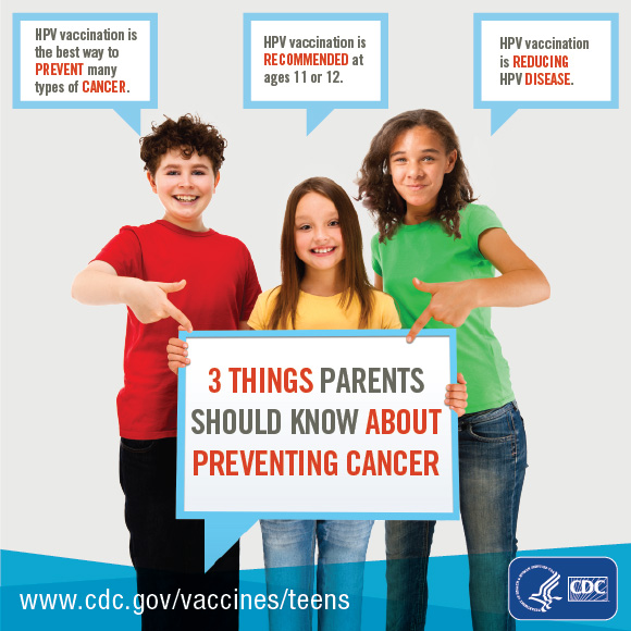 3 Things Parents Need to Know About Preventing Cancers Infographic