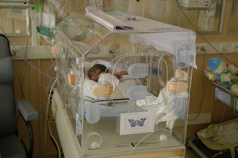 Premature Baby in Incubator