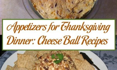 Appetizers for Thanksgiving Dinner: Cheese Ball Recipes