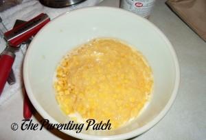 Adding the Creamed Corn