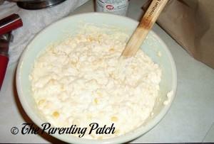 Stirring the Corn Casserole