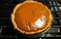 Baking a Pumpkin Pie for a Happy Holiday Meal