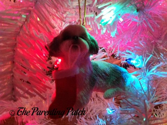 Shih Tzu with Stocking Ornament