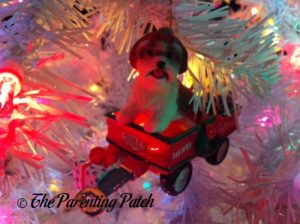 Shih Tzu in Wagon Ornament