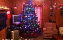 My Home Is Aglow with Artificial Christmas Trees with Lights (Day 8 of 25 Days of Christmas)