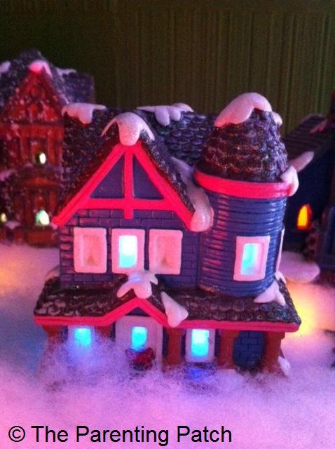 Blue Victorian Christmas House