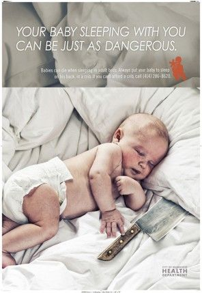 Co-Sleeping Ad From Milwaukee Health Department