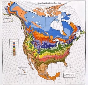 USDA Plant Hardiness Zone Map