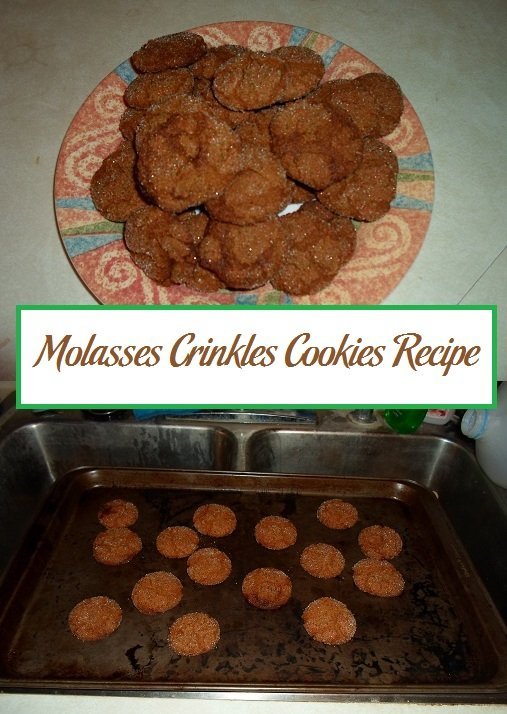 Molasses Crinkles Cookies Recipe