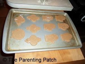 Cutting the Sugar Cookie Dough