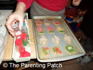 Decorating the Sugar Cookies