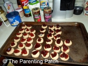 Tray of Thumbprint Cookies