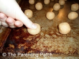 Thumbprinting the Dough Balls