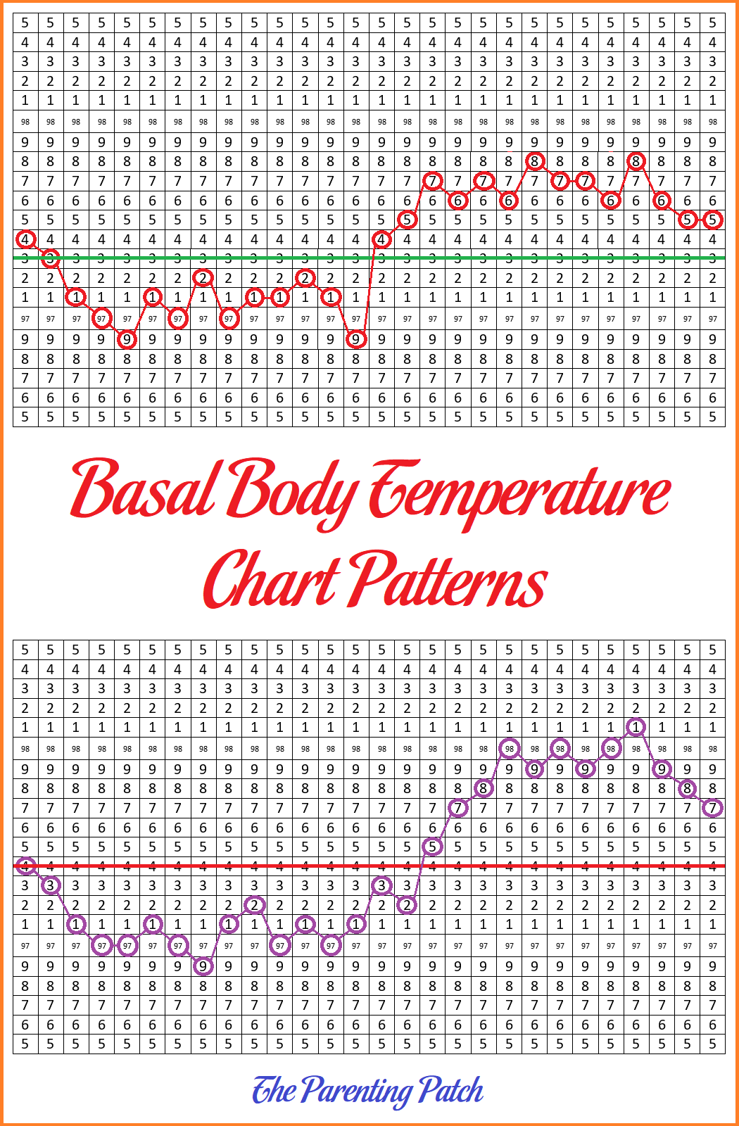 photo relating to Basal Body Temp Chart Printable identified as Basal Human body Weather Chart Designs Parenting Patch