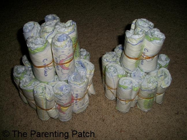 Unadorned Diaper Cakes