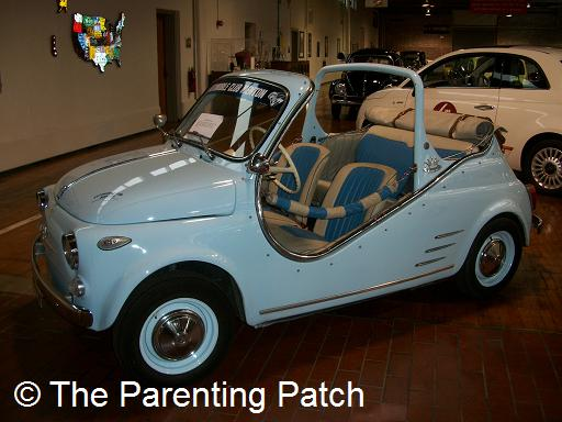 Blue Car at the Lane Motor Museum