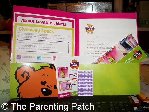 Lovable Labels Camp Pack
