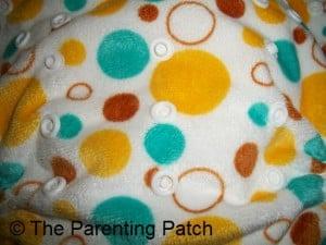 Torso Snaps on the Awesome Blossom Cloth Diaper