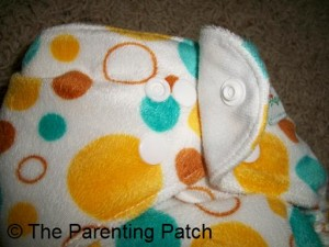 Extra Small Snaps on the Awesome Blossom Cloth Diaper