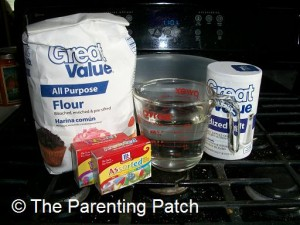 Ingredients for Salt Dough