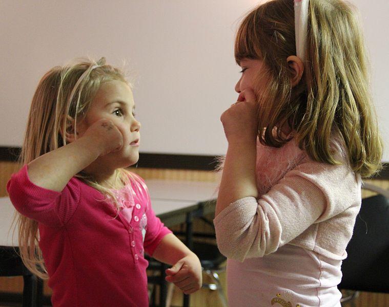 Girls Learning Sign Language