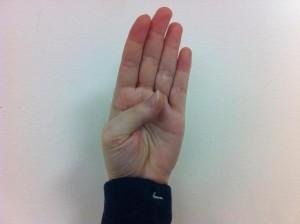 Fingerspelling B