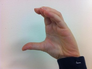 Fingerspelling C