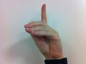Fingerspelling D