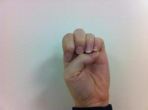Fingerspelling E