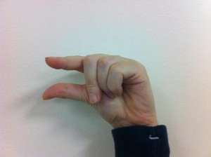 Fingerspelling G