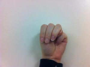 Fingerspelling M