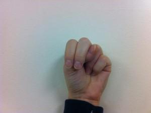 Fingerspelling N