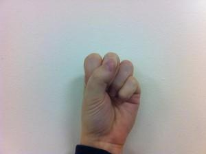 Fingerspelling S