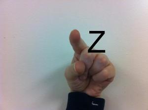 Fingerspelling Z