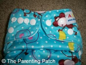 Hip Snaps on Alva Baby Cloth Diaper
