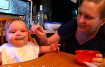 Introducing Solid Foods: Poppy's First Taste of Sweet Potatoes