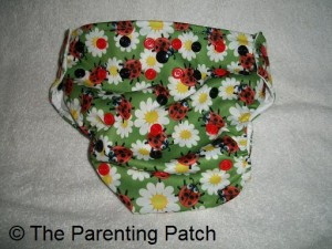 Largest Setting of Glow Bug Cloth Diaper
