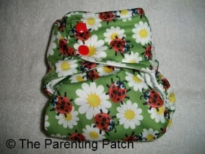 Smallest Setting of Glow Bug Cloth Diaper