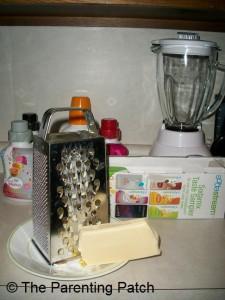 Shredding the Mozzarella Cheese