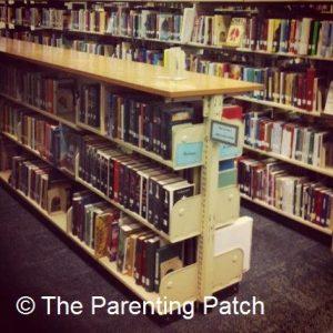 Books Shelves in the Children's Section
