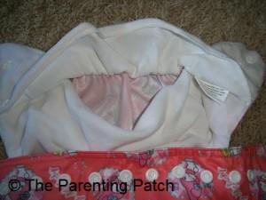 Pocket Opening on Sunbaby Diaper