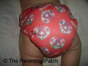 Back of Sunbaby Diaper