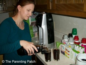 Pouring the Sodastream Cola