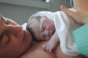 Newborn Baby with Vernix