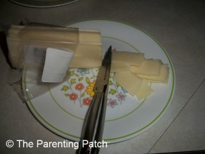 Slicing the Mozzarella Cheese