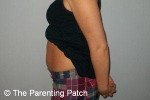Baby Bump Week 8 of Pregnancy 1